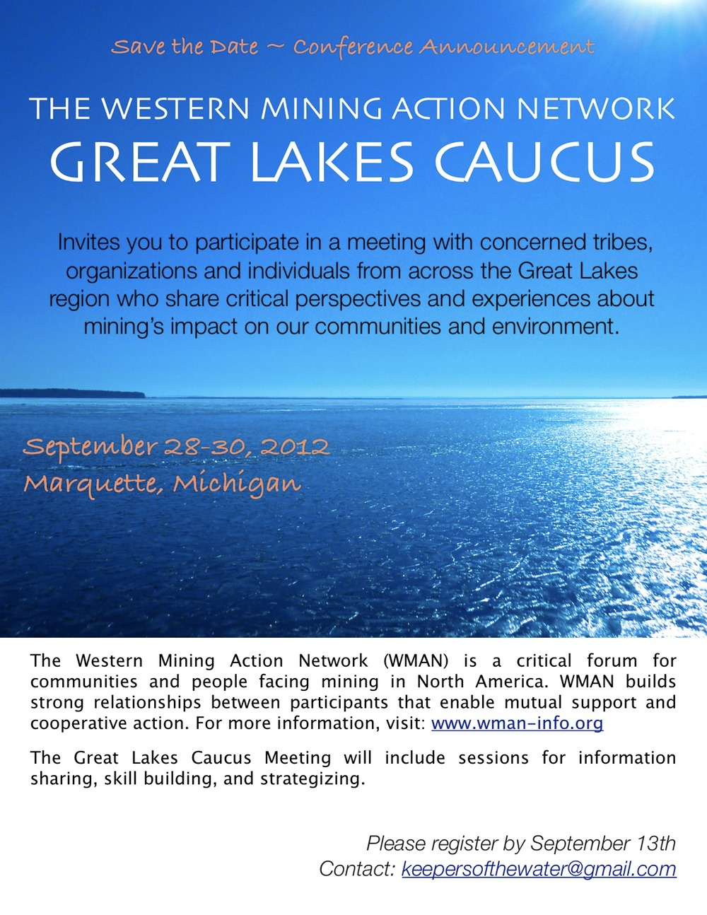 Invitation WMAN Great Lakes Meeting