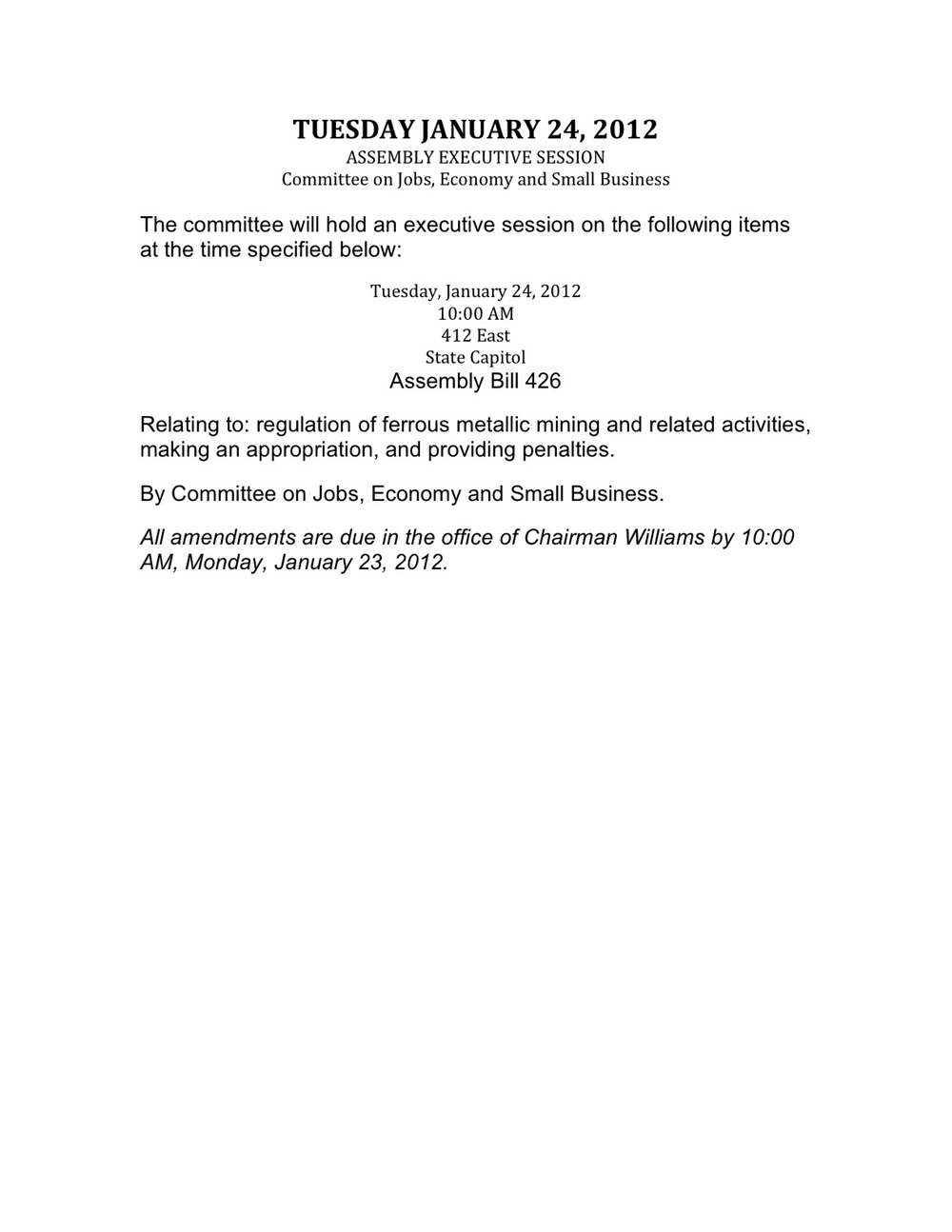 Jan. 24 Madison Committee Amendments
